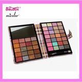 48 colors leather cover pressed Eyeshadow Palette