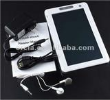 "4GB build in price less than 40$ 7"" inch ebook reader (touch button)"