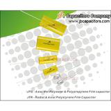 Axial lead metallized polyester & polypropylene fi
