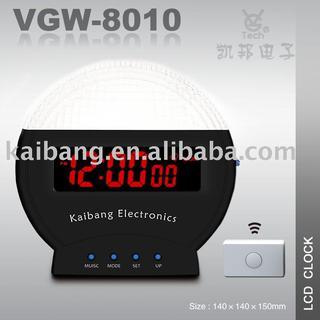 Remote doorbell LCD clock