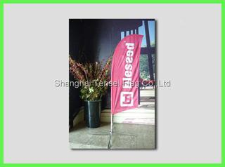Bow Feather Flags polyester lower price ISO9001