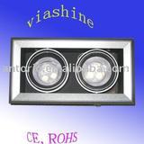 2*3w cree chip led light fitting/led grille light /led louver light