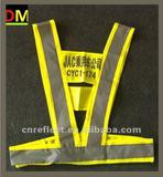 reflective vest with En471 Standard print logo V-stype