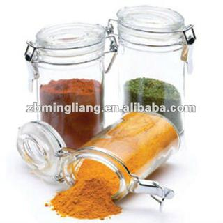 oblate shaped spice glass jars