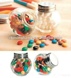 candy clear glass jars