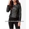 womens black washed pu leather jacket