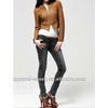 womens washed slim fit pu leather jacket