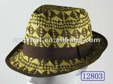 12803 Man Summer Fashion Colorful Playboy Straw Hat