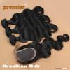 Unprocessed Wholesale Body Wave Virgin Brazilian Human Hair Weave Bundles With Lace Closure