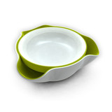 High quality Double Dish, White and Green Creative 2 in 1 snack & store double dish