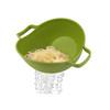 Lime Green Zeal Kitchen Tilting Spaghetti Pasta Vegetables Fast Drain & Serve Colander