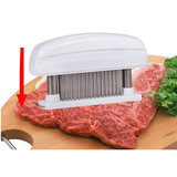 Mudder Detachable Grade 48 Stainless Steel Blades Meat Tenderizer Kitchen Tool & Knife (White)