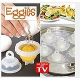 Plastic Egg Cooker Set - Never Peel a Hard-Boiled Egg Again