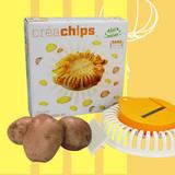 DIY Microwave Potato Chip Maker Vegetable Slicer Crisp