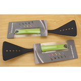 Wholesales nylon Slotted turner with green handle