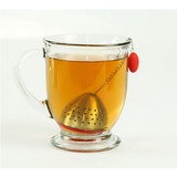 Cute Loose Leaf Stainless Steel Tea Infuser with Silicone Drip Tray