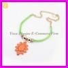 Fashion Semi-precious Stone Pendant Alloy Necklace Jewel XL-1016