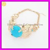 Fashion Gold Alloy Choker Turquoise Necklace Jewellery XL-1015