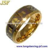 gold tungsten ring 8mm mens wedding bands