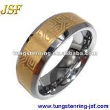 gold tungsten ring mens tungsten engagement ring