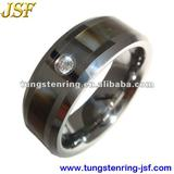 tungsten carbide rings with CZ Gems