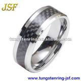 black carbon fiber tungsten ring inlaid tungsten carbide rings