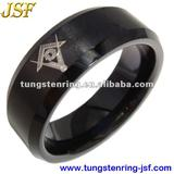 2013 mens black tungsten masonic rings tungsten rings