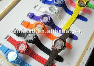 silicone sport watch