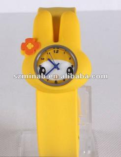high quality kid silicone slap watches