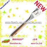 hot sale stainless steel cake spade with wooden handle