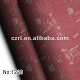 polyester cotton fabric denim jacquard with bear