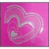 Custom Heart Emboidery Sequined Patch for Clothing