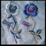 Beautiful Rose Flower Emboidery