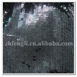 high quality embroidered black sequin fabrics