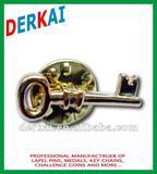 key shape lapel pin