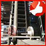 High incline rubber conveyor belt