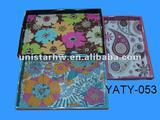 fuzhou 3 pcs wood trays sets with flower motif