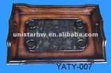 new exquisite square wooden polished tray