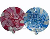 baby boy or girl auto inflating balloons