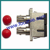 SC-ST duplex optical fiber adapter