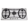 Built-in 5 burners gas stove/gas hob/gas cooker, stainless steel