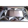 sloping glass framed mirror 3D spell art mirror Decorative mirror