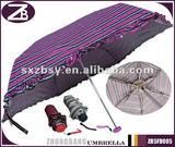 5-fold Manual Open Pocket Stripes Umbrella