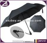manual open& auto close 3 folding umbrella