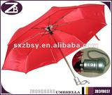 3-folding Solar Red Automatic Umbrella