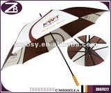 Black Metal Ribs Promotion Golf Umbrella