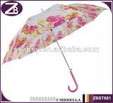 auto open girl color painting straight umbrella