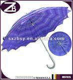 16K Manual Open Double Interleaving Canopy Umbrella