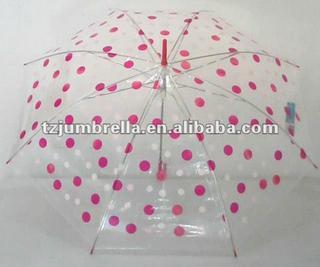 fancy transparent PVC umbrellas