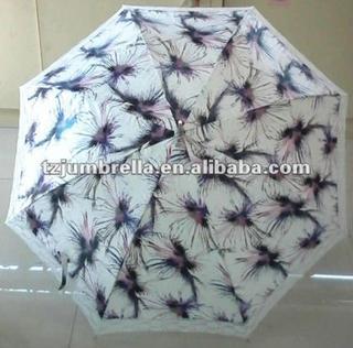 attractive lace edge straight umbrella